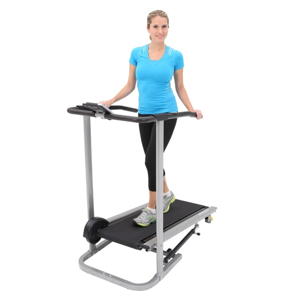 Exerpeutic Folding Compact Manual Safety Handle / Pulse Treadmill