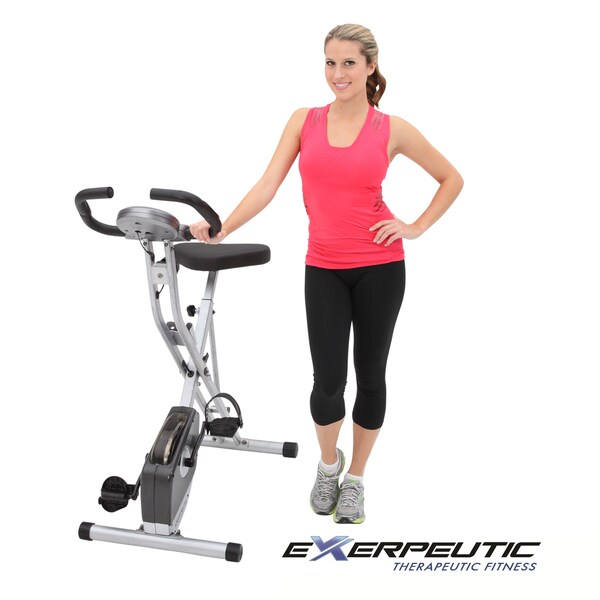Exerpeutic Folding Pulse Monitor Magnetic Upright Bike