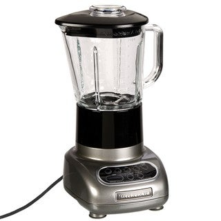 KitchenAid RKSB565MC Metallic Chrome 5-speed Blender with Glass Jar (Refurbished)