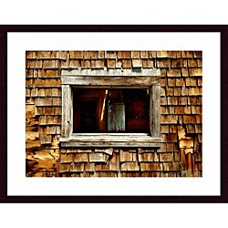 John K. Nakata 'Shingle Siding and Window' Wood Framed Art Print