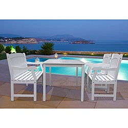Bradley 4-piece Table/ Bench/ Arm Chair Outdoor Dining Set