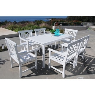 Bradley 7-piece Table/ Arm Chair Outdoor Dining Set