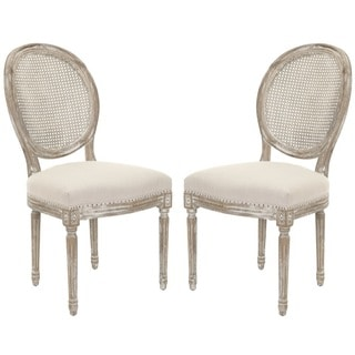 Safavieh Old World Dining Marseille Grey Carved Oak Side Chairs (Set of 2)
