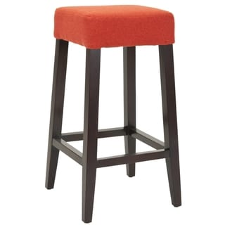 Safavieh Uptown Orange Polyester 30.3-inch Bar Stool