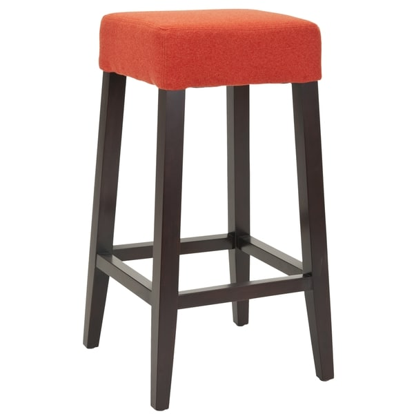 Safavieh Uptown Orange Polyester 30 3 Inch Bar Stool