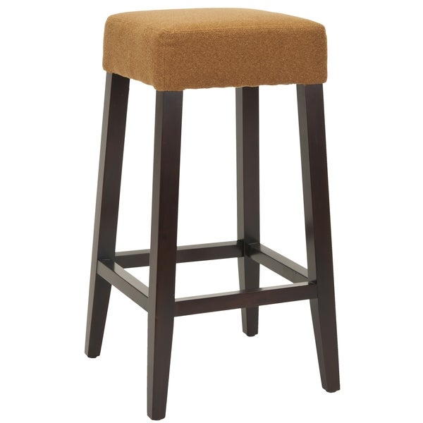 Safavieh Uptown Camel Polyester 30 3 Inch Bar Stool