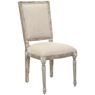 Safavieh Old World Dining Limoux Grey Carved Oak Side Chair