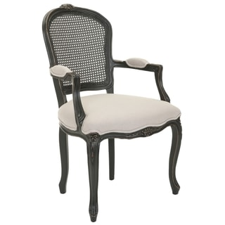 Safavieh Mouries Beige/ Antiqued Black Carved Arm Chair