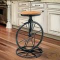 Christopher Knight Home Michaelo Bicycle Wheel Adjustable Barstool