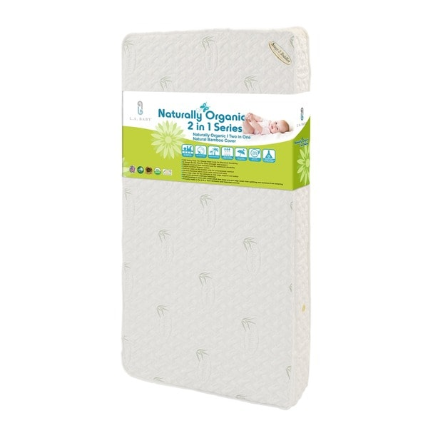 Natural I 2-in-1 Crib Mattress with Coconut Fiber, Cotton Layer and Blended Viscose from Bam 8742777