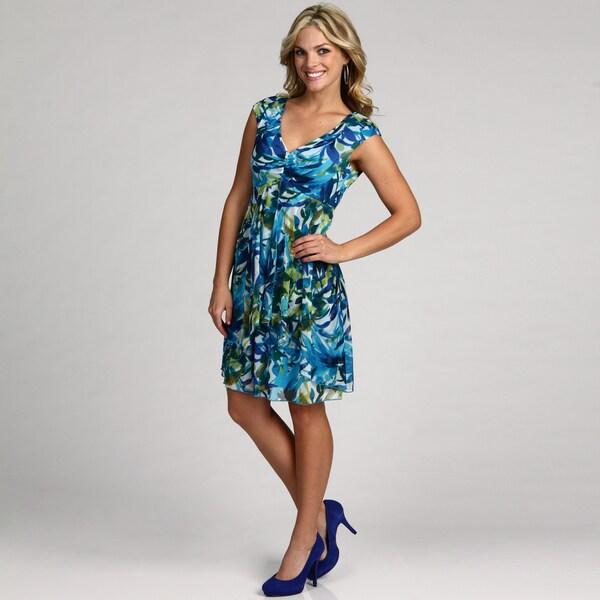 Connected Apparel Women's Sheer Matte Dress