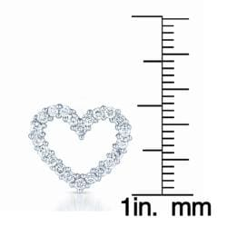 14k White Gold 1/2ct TDW Diamond Heart Necklace (H-I, I1-I2)