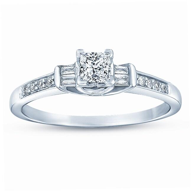 14k White Gold 1/2ct TDW Diamond Promise Ring (G-H, I1-I2)
