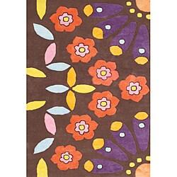 Alliyah Handmade Choco Brown New Zealand Blend Wool Rug (5' x 8')