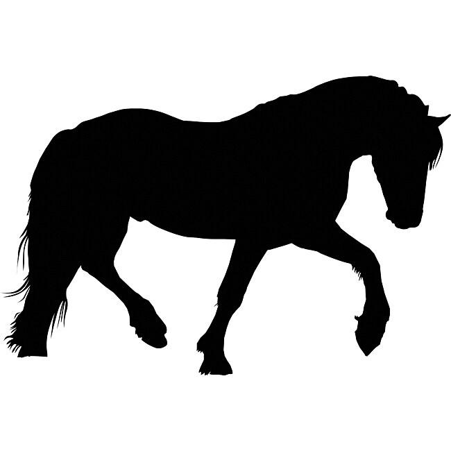Draft horse head silhouette