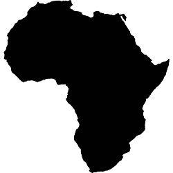 Instant Chalkboard Africa Map Sticker