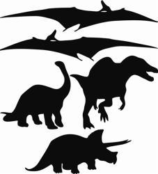Instant Chalkboard Dinosaur Wall Sticker Set