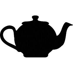 Instant Chalkboard Teapot Large Sticker