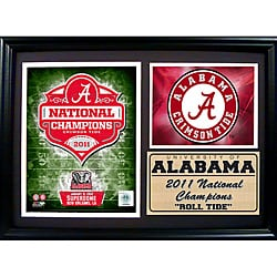 Encore Select 2011 National Champion University of Alabama Photo Stat Frame