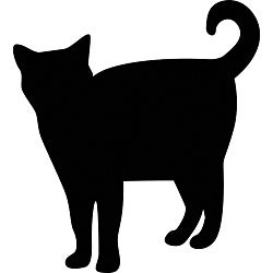 Instant Chalkboard Peel and Stick Cat Sticker