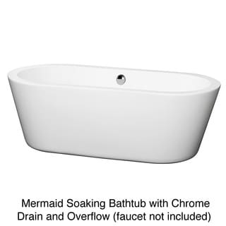Wyndham Collection Mermaid Free Standing 67 inch Soaking Bathtub