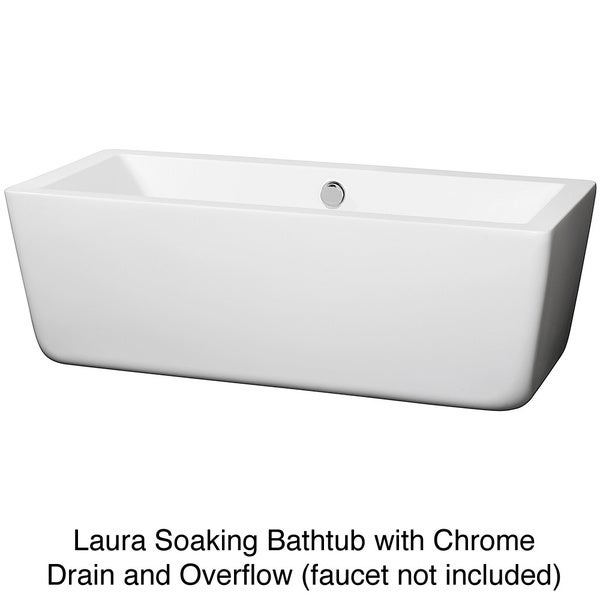 Wyndham Collection Laura Free Standing Soaking Bathtub