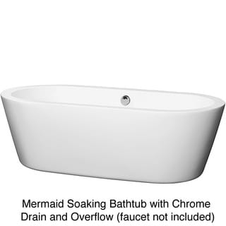 Wyndham Collection Mermaid Free Standing 71-inch Soaking Bathtub