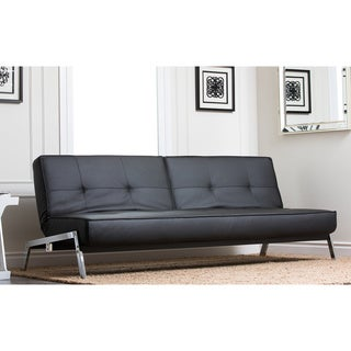 Abbyson Living Venice Black Convertible Euro Sofa Lounger