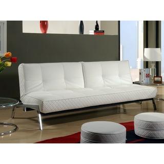 Abbyson living venice white convertible euro sofa lounger for Sofa 99 euro
