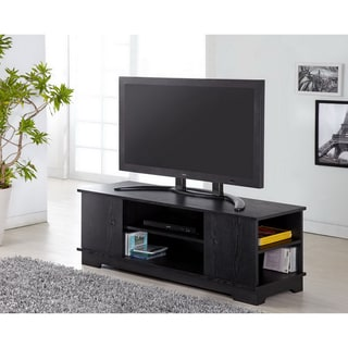 Furniture of America Colbie Modern TV Cabinet in Black