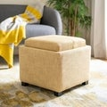 Harrison Gold Viscose Tray Ottoman