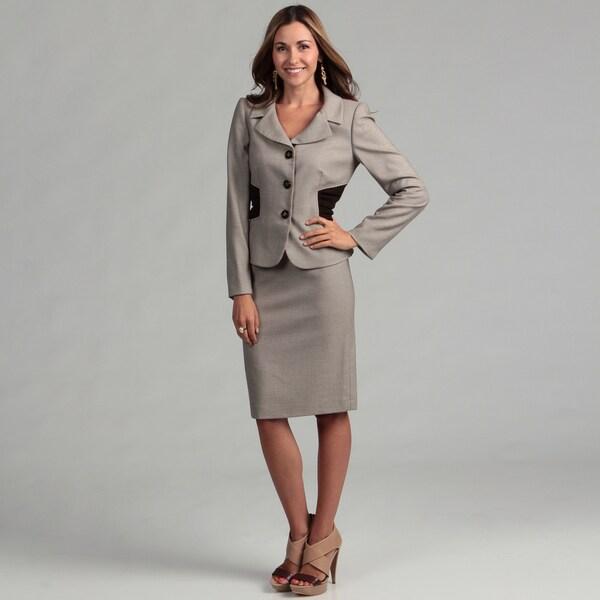 Tahari Women's Novelty Skirt Suit