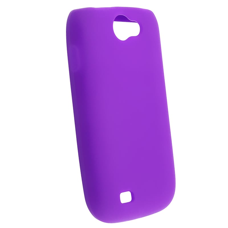 Purple Silicone Skin Case for Samsung Exhibit 2 4G T679