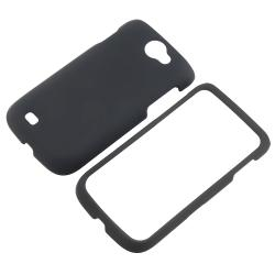 Black Snap-on Rubber Coated Case for Samsung Exhibit 2 4G T679