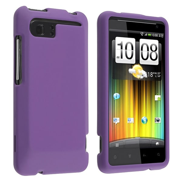 Purple Rubber Coated Case for HTC Holiday/ Vivid
