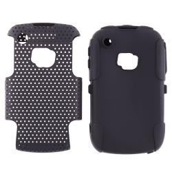 Black Skin/ Black Mesh Hybrid Case for BlackBerry Curve 8520/ 9300