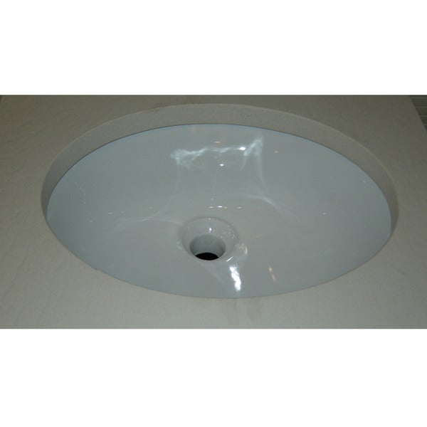 Oval White Ceramic Undermount Sink - Overstock Shopping - Great Deals ...