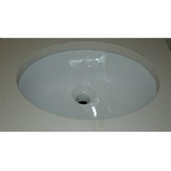 Somette Oval White Ceramic Undermount Sink