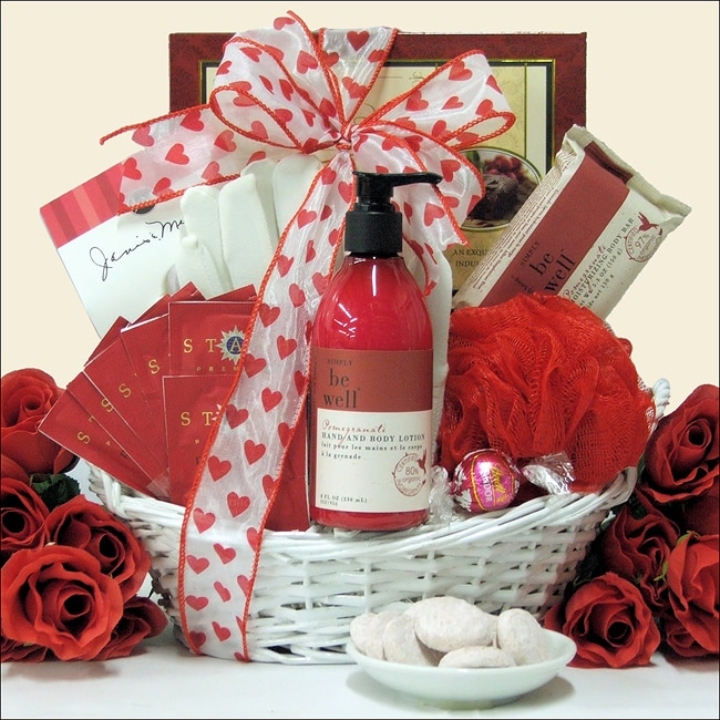 'Be Well' Pomegranate Spa Retreat Valentine's Day Gift Basket