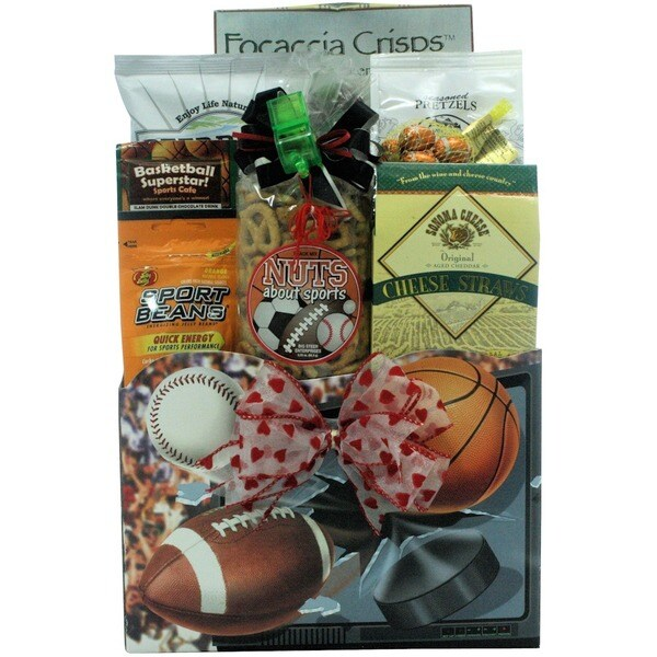 Great Arrivals Wanna Play?: Valentine's Day Sports Gift Basket