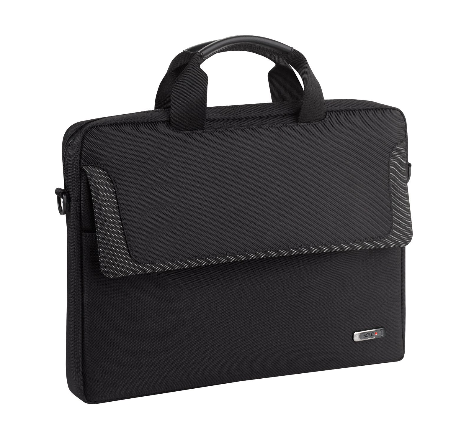 SOLO Sterling Black 16-inch Laptop Slim Briefcase