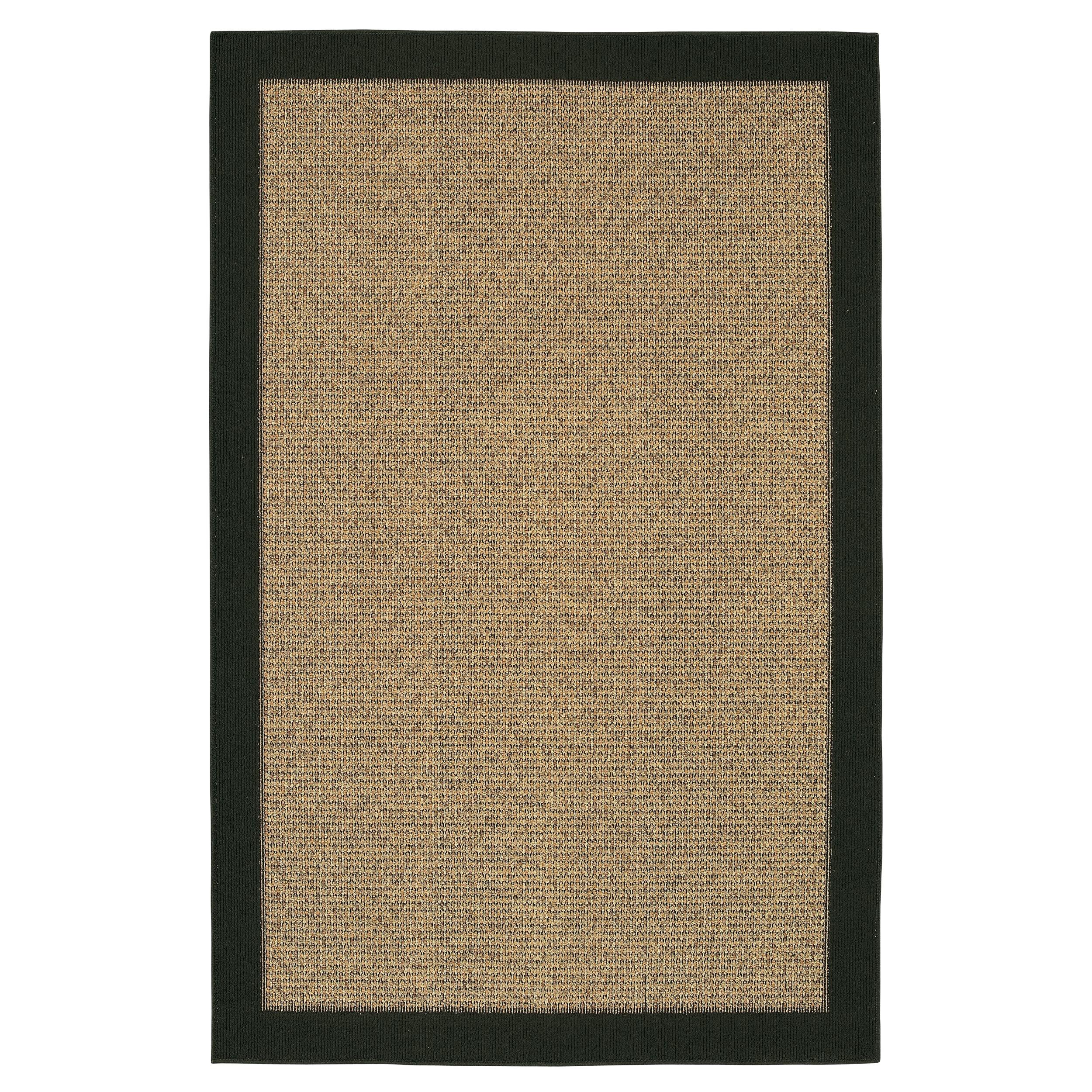 Reed Gold/Black Border Rug (5' x 8')