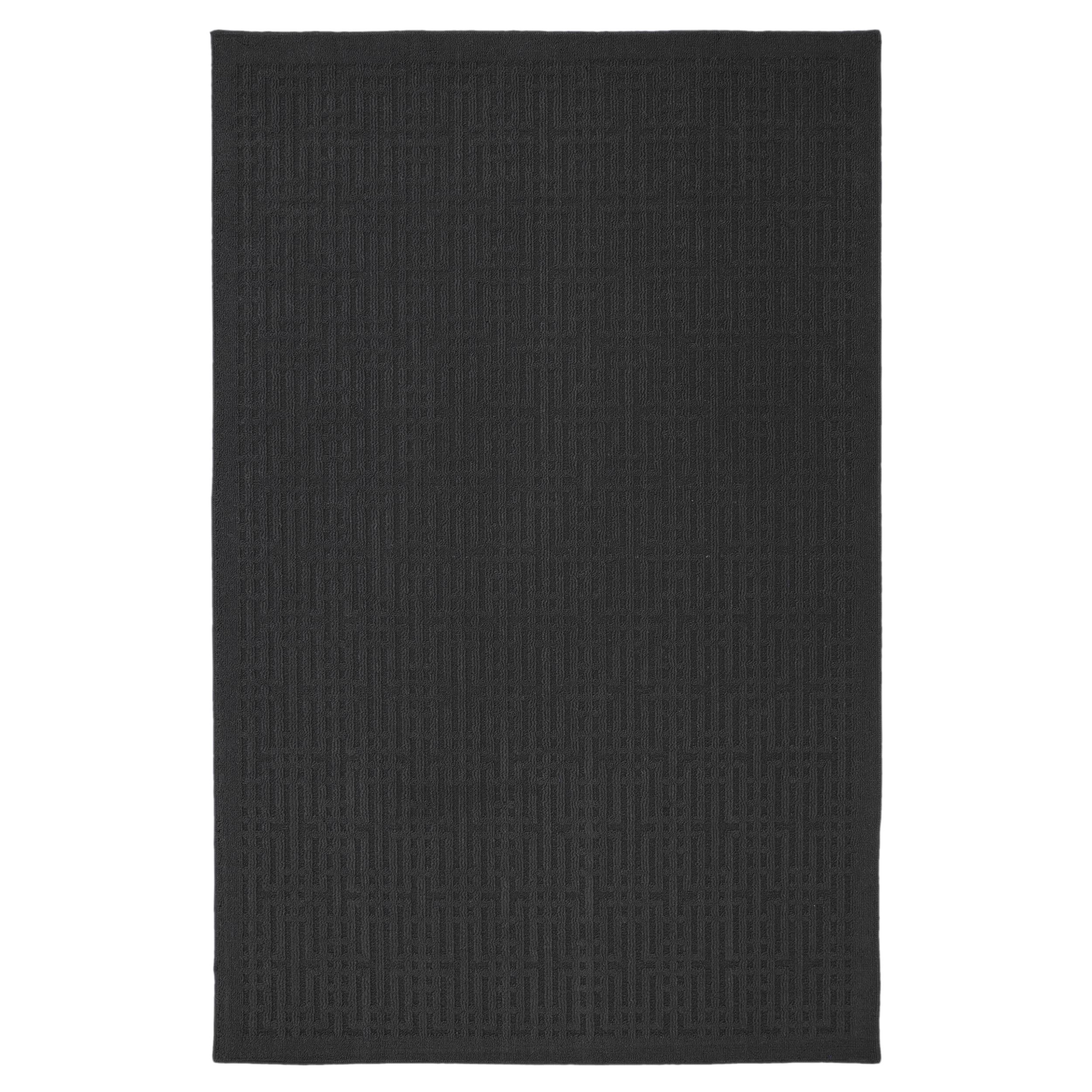 Stacks Dark Charcoal Rug (1'8 x 2'10)