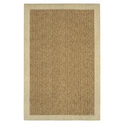 Reed Beige/Tan Border Rug (1'8 x 2'10)