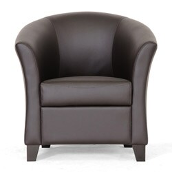 Bourke Dark Brown Leather Modern Club Chair