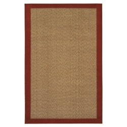 Reed Crimson Red/Tan Polyester Rug (1'8 x 2'10)