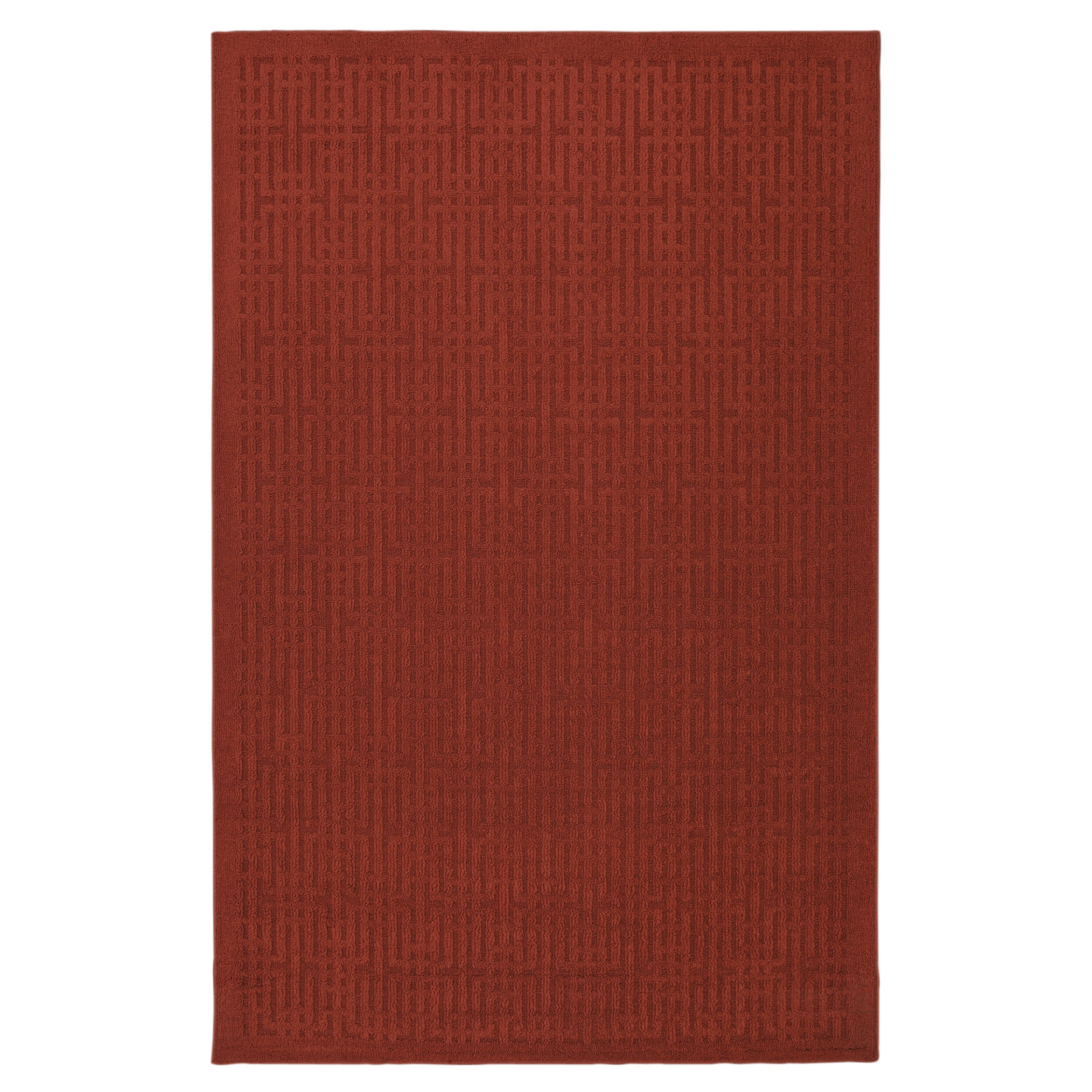 Stacks Madder Rusty Red Rug (5' x 7')