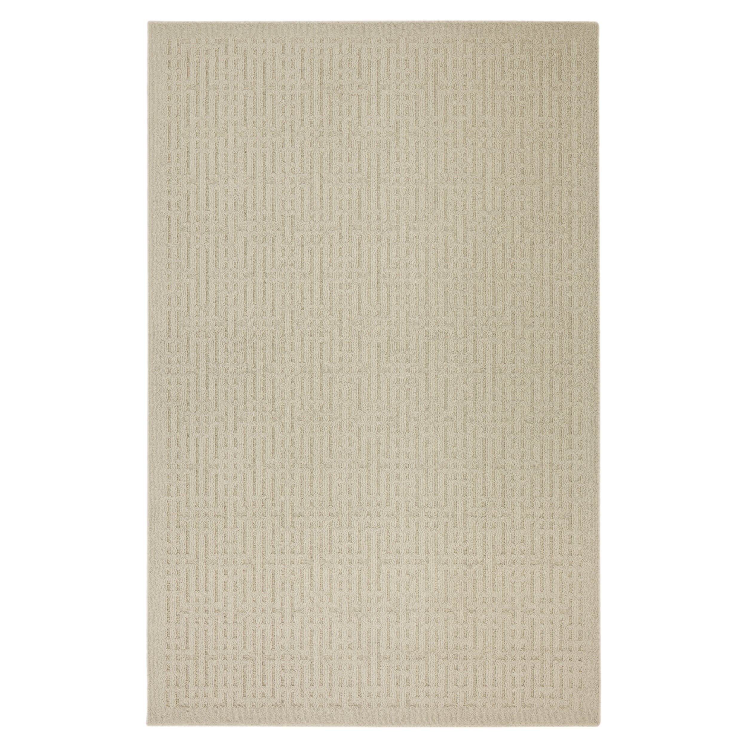 Stacks Natural Beige Rug (5' x 7')
