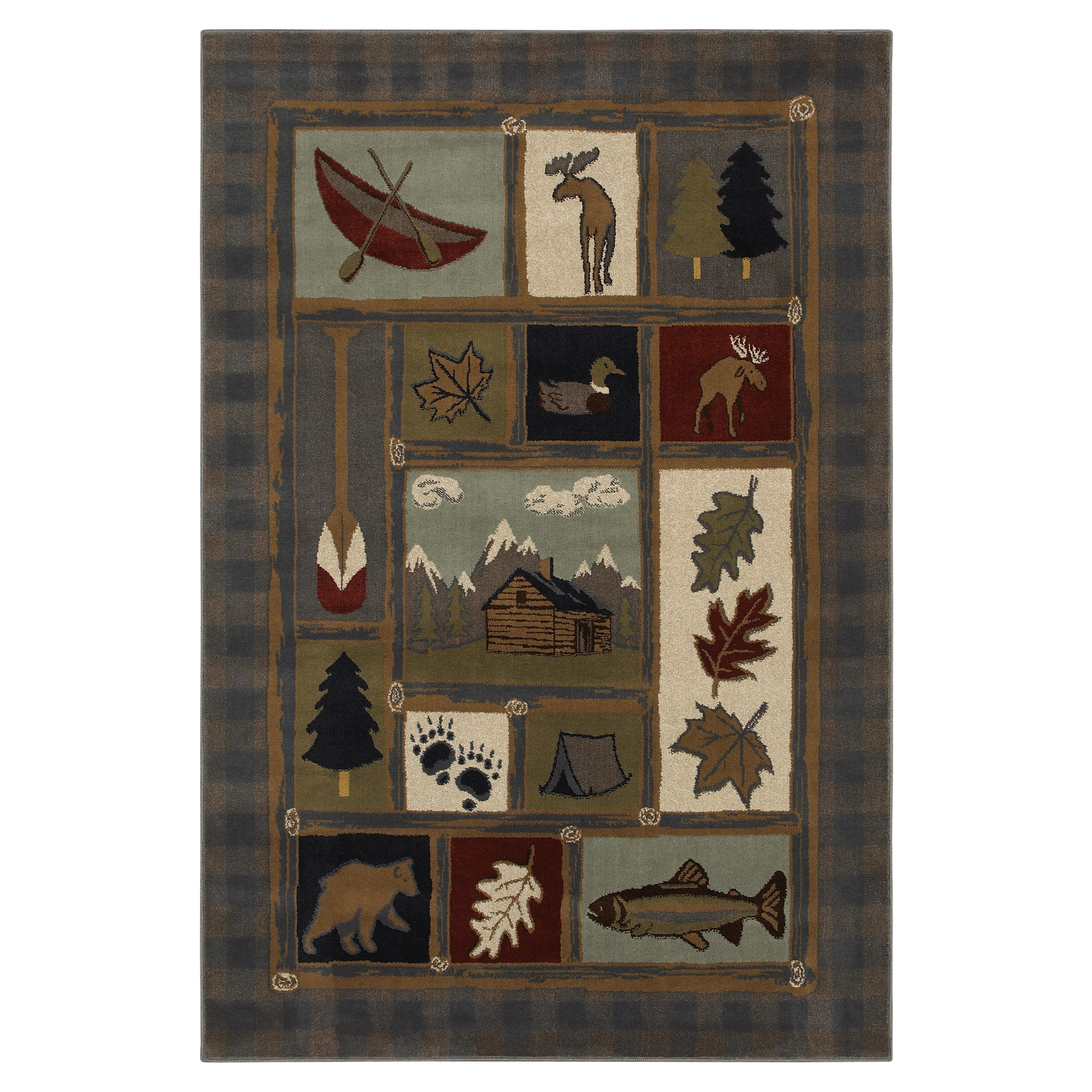 Outdoorsman Blue Rug (5'3 x 7'10)