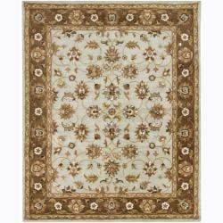 Transitional Hand-Tufted Mandara Oriental Wool Rug (8' x 10')